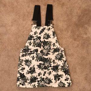 Floral Overalls Dress